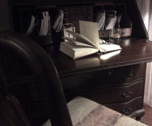 open book on desk