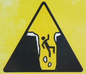 pitfall sign